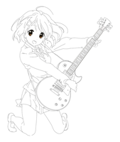 Yui lineart by RaeDesignDA