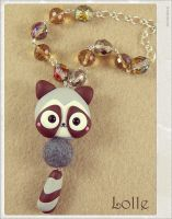 Clay Flurry Raccoon by LolleBijoux