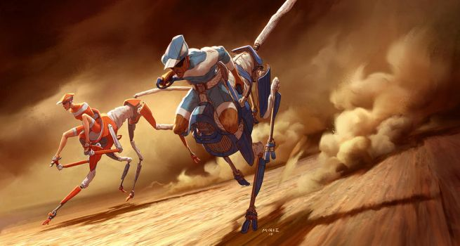 Centaur Cheetah Robot Vehicles by ATArts