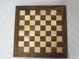 Walnut and maple checkerboard by DMSscroller