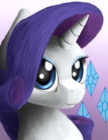 Rarity Portrait by NiegelvonWolf