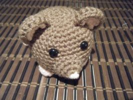 Brown and Pink Round Rat Amigurumi Doll by ChibiSayuriEtsy