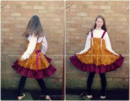 Steampunk inspired dress by MysteriousKirsty
