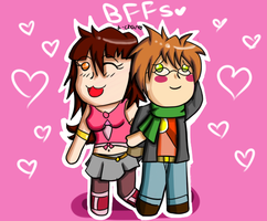 Prize- Jeshika-Haruno: BFFs by Warped-Dragonfly