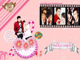 Milky Couple IU and WooYoung by Little-Yoon