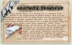 Cosplay Tip 16 - Graphite Transfer by Bllacksheep