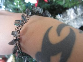 Misty Shadow Morning Crochet wire Bracelet by Artisticat86