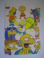 Homer attacks Mr Burns by HeinousFlame