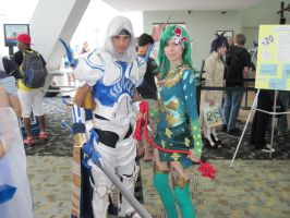 Paladin and Summoner by pommyman