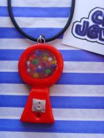 Gumball Machine Necklace by tyney123