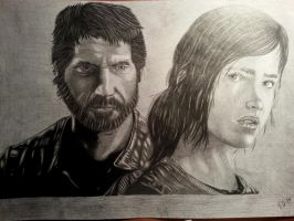 Joel and Ellie - The Last of Us by flaviudraghis