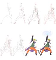 Step by Step: Kage Naruto Uzumaki by Johnny-Wolf