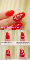 Lazy Holiday Nail Art Tutorial by VioletLeBeaux