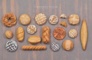 1:12 Scale Miniature Breads - Full Range by abohemianbazaar