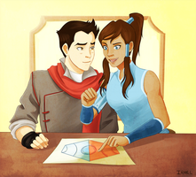 Strategizing - Korra by Irrel