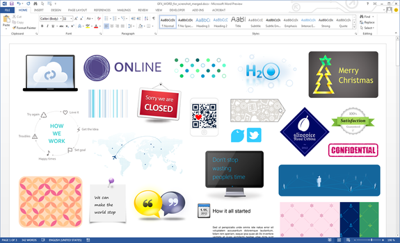 Graphic design in Microsoft Word 2013 by upiir