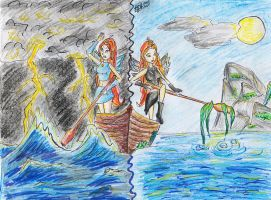 Together in one boat by TheGoldenAquarius