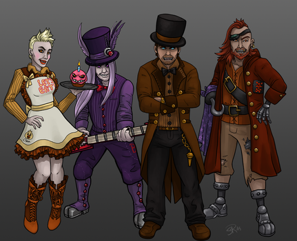 Five Nights at Freddy's Characters by Underwater-Daydream