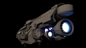 UNSC Infinity (redone again) Back shot by The-Didact