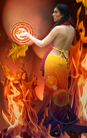 TIC Series: Fire Elemental by sphinxfalcon