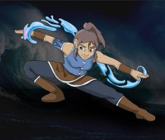Avatar Korra- Water by midnight-risu