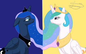 The Royal Sisters by ElectriCookie