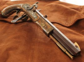 Engraved Blackpowder Pistol by thorssmith