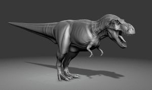 Realtime T-Rex 3D Model WIP by FoxHound1984
