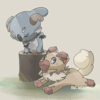 Iwanko And Nekkoala by AutobotTesla