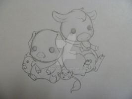 Chibi Farm Animals by Xeohelios