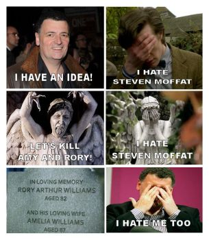 Yep, It's Agreed, We All Hate Steven Moffat(O by Doctor-Who-RULEZ