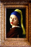 Girl with pearl earring by Apollonaris