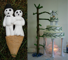 Kodama Wedding Cake Toppers by Eorryn