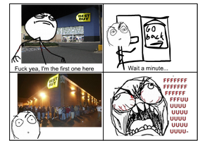 Rage Comic: Black Friday by haloflooder
