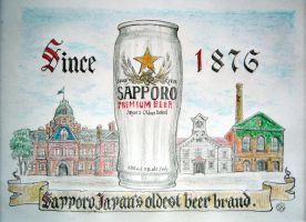Sapporo beer by bogatyrkhan