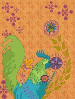 Pattern Design- Rooster by spicysteweddemon