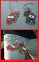 Mcqueen and Mater paper charms by nokama628