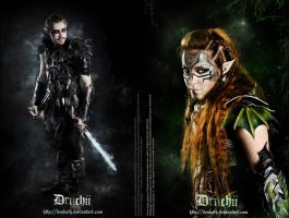 Druchii Armor : male and female by Deakath