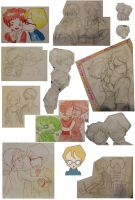 Jeremy + Aelita sketches 2 by Millyoko