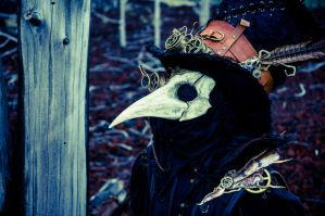 steampunk crow mask by cellmon