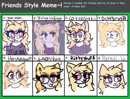 Style meme I WANT TO DIE by meowruby