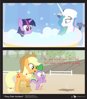 Comic Block: Fizzy Cider Accident by dm29