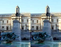 Early March Evening In  Trafalgar Square by aegiandyad