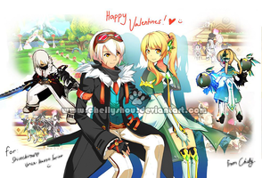 (Elsword Online) Blade Master and Code Empress by chellyshou