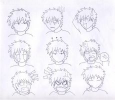 Anime Faces XD by maudrake