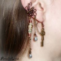 Bronze wire wrapped ear cuff by AmeliaLune