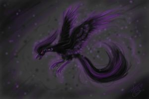 Spirit of Black and Purple by Chi-Bird
