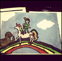 I am as straight as Peter Pan Riding a Unicorn by SteampunkedInkling