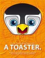 toaster penguin by serealis