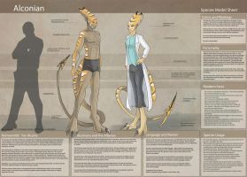 Alconian - Species Sheet by Ulario
